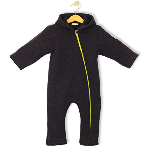 bubble.kid berlin - Unisex Baby Winter Overall ANU, Overall aus Wolle - Tec-Walkwolle navy
