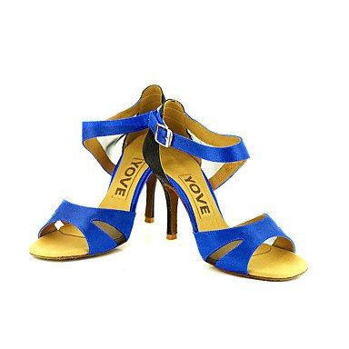 Amarillo Personalizado Azul Latino Morado Negro Salsa Blanco Personalizables Tacón Rosa de Rojo baile almond Zapatos gxwnIOY