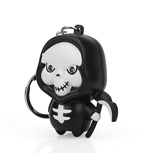 wuliLINL Cute Cartoon Halloween Grim Reaper Keychain with LED Light Sound Keyfob Kids Toy Gift ()