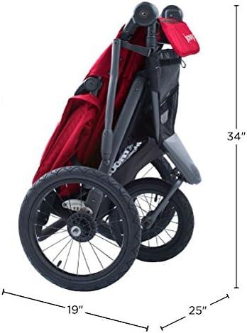Joovy Zoom 360 Poussette ultra l/ég/ère avec grand auvent et pneus gonfl/és Rouge