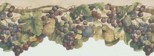 Fruitful Vine - Brewster 418B325 Borders and More Fruitful Vine Wall Border, 8.875-Inch by 180-Inch