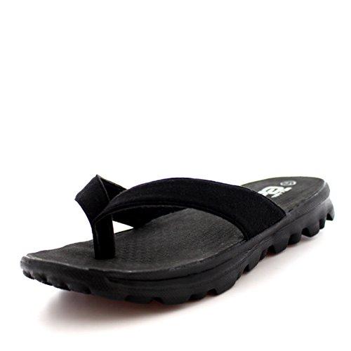 Para Caminar negro Dedo Del negro Pie Mujer Chanclas Negro Ligero Zapatos Deportes Verano Sandal 1FqYxCp