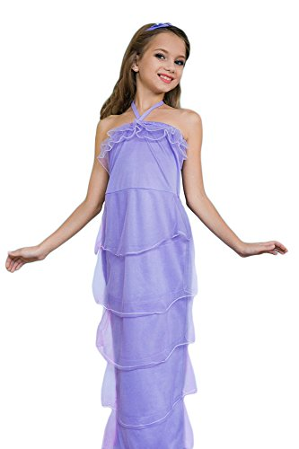 [Girls' Little Mermaid Magical Sea Princess Dress Up & Role Play Halloween Costume (8-11 years)] (Ariel Tail Costumes)