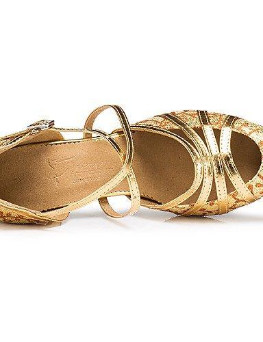 ShangYi Chaussures de danse ( Autre ) - Non Personnalisables - Talon Bobine - Paillette Brillante / Paillette - Latine , silver-us6 / eu36 / uk4 / cn36 , silver-us6 / eu36 / uk4 / cn36