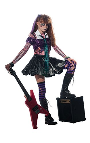 [Rubies Zombie Zombet 881386 Girls Costume - Zombie Punk Rocker - Medium] (Punk Rocker Costumes For Kids)