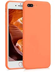 kwmobile Funda Compatible con Apple iPhone 7 Plus / 8 Plus - Carcasa de TPU Silicona - Protector Trasero en Papaya