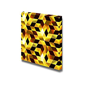 Canvas Prints Wall Art - Abstract Seamless Mosaic Pattern | Modern Wall Decor/Home Decoration Stretched Gallery Canvas Wrap Giclee Print & Ready to Hang - 24