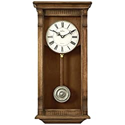 Bulova Warrick 23 High Rectangular Wooden Wall Clock