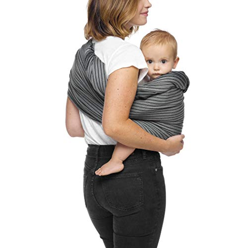 Moby Ring Sling Baby Carrier (Jet Ribbons) - Ring Sling Carrier for Babywearing -Baby Sling for Baby Wearing, Breastfeeding, and Keeping Baby Close - Baby Carrier for Newborns, Infants, and Toddlers