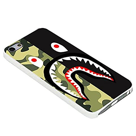 Bape sharkc For iPhone Case (iPhone 5c white) (Beatles Phone Case 5c)