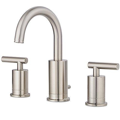 Pfister LG49NC1K Contempra 2-Handle 8 Inch Widespread Bathroom Faucet in Brushed Nickel, Water-Efficient Model