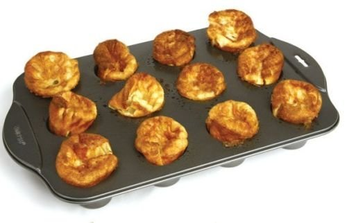 Norpro 3971 Nonstick Linking Popover Muffin Pastry Biscuit Roll Pan 12 Mini Cup by Norpro