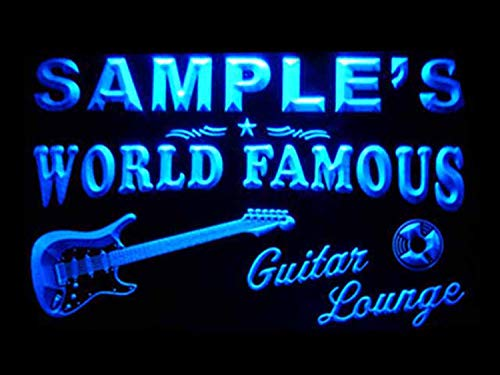 (ADVPRO Name Personalized Custom Guitar Band Room Bar Beer Neon Sign Blue 24
