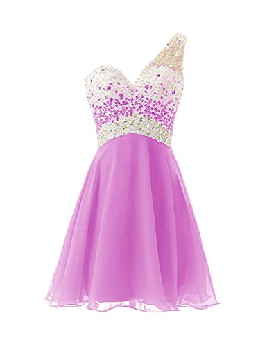 Fanciest Women's 2017 Short Homecoming Dresses Lilac Prom Dresses Long Formal Gowns US2