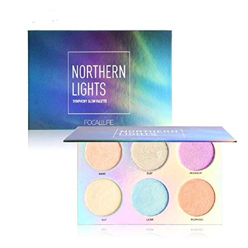 6 Colors Highly Pigmented Glow Kit Makeup Powder Palette Face Illuminating Highlighter & Bronzer