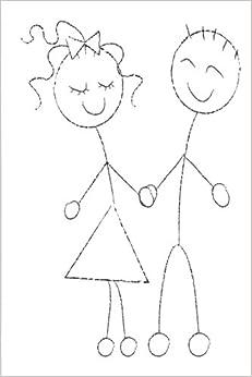Wedding Journal Cute Sketch Man Woman: (Notebook, Diary, Blank Book) (Wedding Journals Notebooks Diaries)