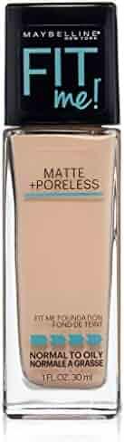 Maybelline New York Fit Me Matte Plus Poreless Foundation, Creamy Beige, 1 Fluid Ounce