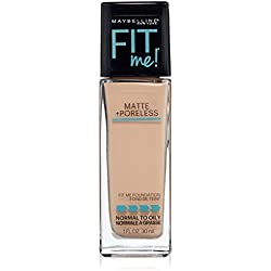 Maybelline New York Fit Me Matte Plus Poreless Foundation, Creamy Beige, 1 Fluid Ounce