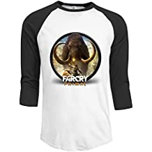 Far Cry Shooter Computer And Video Games Men 3/4 Sleeve Raglan Tops Shirt Casual Round Neck Top