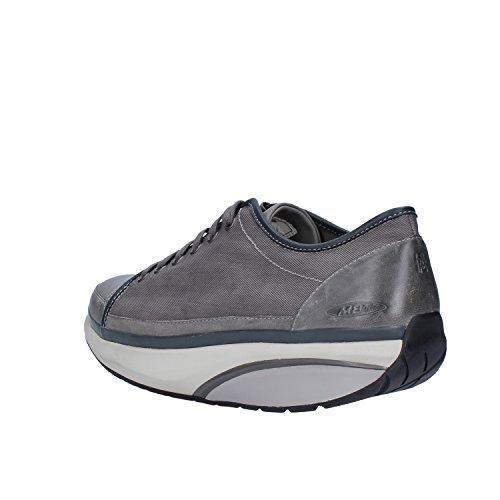 MBT Sneakers Uomo Tessuto Pelle Grigio