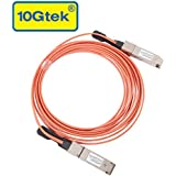 10Gtek Compatible for Force10 CBL-QSFP-40GE-5M, 40Gb QSFP+ Direct-attach Active Optical Cable (AOC), QDR, MMF, 5-Meter