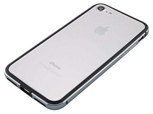 キャロラインソフィー高度iPhone 8 / iPhone 7 アルミバンパー [ 衝撃吸収 2重構造 電波干渉無し ][ ワイヤレス充電 対応 ][ 簡単脱着 ネジ不要 ] [ ストラップホール ] アイフォン ケース, カバー, 耐衝撃 アルミ バンパー グレー