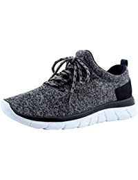 Mens Lightweight Sneakers Breathable Lace up Comfortable Casual Shoes Fashion Sneakers
