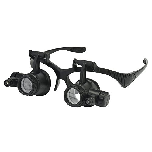 Beileshi Watch Repair Magnifier Loupe Jeweler Magnifying Glasses Tool Set with LED Light (2.5 x 4X 6 x 8X 10 x 15x 20 x 25x) ()