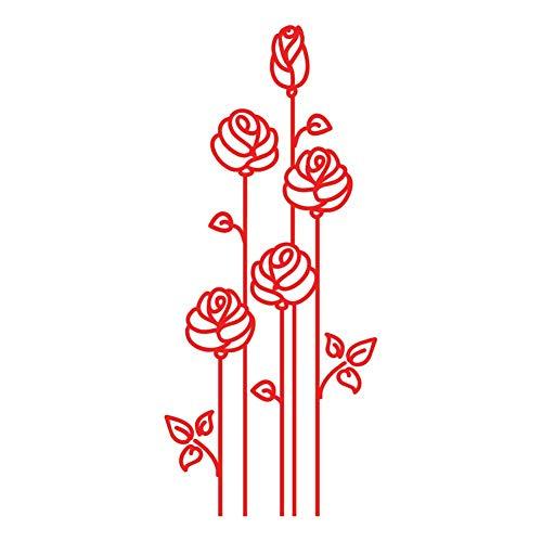 Milk Mug Designs Stunning Red Roses Vinyl Decal Sticker, Decor for 13