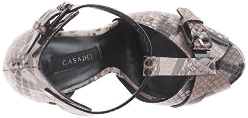 Casadei Kvinnor Tryckt Python Patent Sandal Plattform Roccia