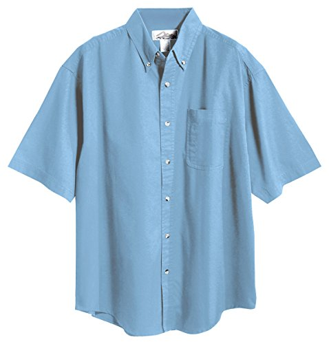 Tri-Mountain 768 Recruit Teflon Stain-Resistant Woven Shirt, Light Blue, (Adult 2xlt Shirt)