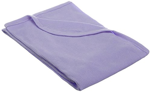 TL Care 100% Natural Cotton Swaddle/Thermal Blanket, Lavender, Soft Breathable, for Girls Cotton Thermal Receiving Blanket