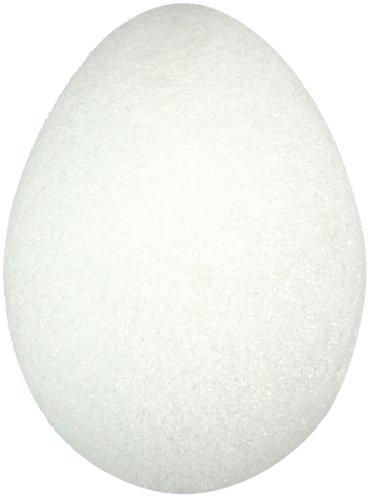 Bulk Buy: Floracraft Styrofoam Egg 2-1/2'X1-7/8' Bulk-White EG25 (144-Pack)
