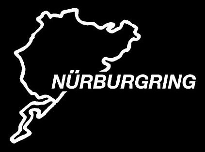 1 ijdmtoy euro nurburgring race track import decal for audi bmw volkswagen porsche mercedes