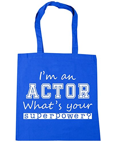 an Beach Tote Shopping Bag x38cm Blue HippoWarehouse Your litres What's 10 Superpower Actor I'm Cornflower 42cm Gym xwFzz5pqY
