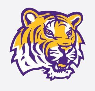 "Amazon.com: LSU Tigers TIGER HEAD Mascot Logo 6"" Vinyl Decal Car Truck  Sticker: Everything Else"