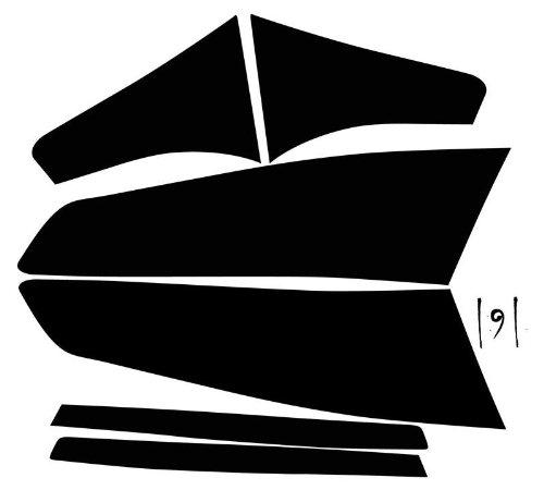 Subject 9 - Fits: Optima Pre-cut vinyl overlay Taillight PLUS tint (2010 2011 2012 2013) DARK (Custom Overlay Panel Accepts)