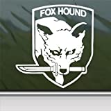 Metal Gear White Sticker Decal Foxhound Crest Solid Snake White Car Window Wall Macbook Notebook Laptop Sticker Decal
