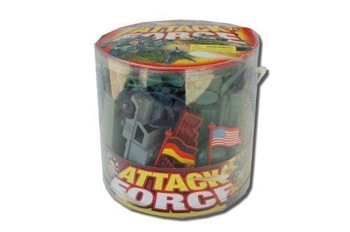 German American Jet (WWII US vs German Plastic Soldier Bucket: 110pc 1:32 Troops, Vehicles, More!)