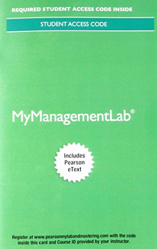 MyLab Management with Pearson eText -- Access Card -- for Management
