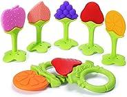 bumblebee Baby Teether Toys Silicone Teething Toys Fruit Shape Freezer Safe for Infants BPA Free Newborn Babie