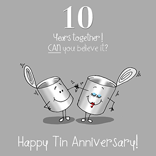 Fax Potato 10th Anniversary Greetings Card - Happy Tin Anniversary