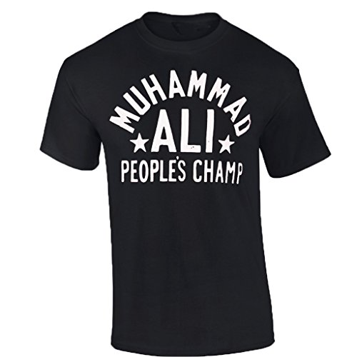 Mens Mohammad ALI T-Shirt PEOPLE'S CHAMP boxing Tshirt ali Cassius Clay shirt