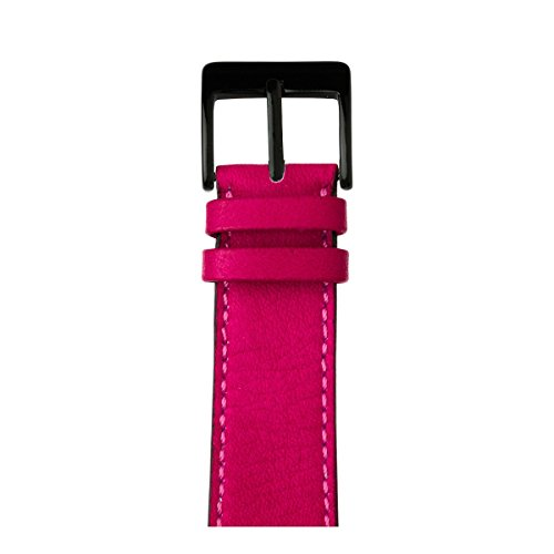 Roobaya | Premium Sauvage Leather Apple Watch Band in Pink | Includes Adapters matching the Color of the Apple Watch, Case Color:Space Black Stainless Steel, Size:38 mm by Roobaya