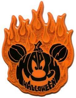 Disney Pin - Flaming Pumpkin Mickey - Halloween