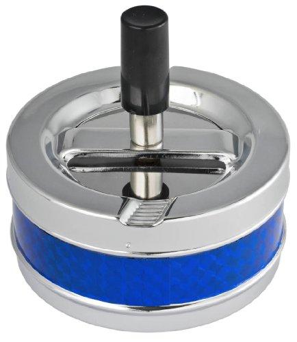 Visol Taz - Cenicero de metal para cigarrillos, color azul y plateado
