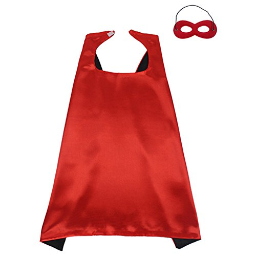 ReachMe Superhero Dress Up Costumes Cape Mask Set Halloween Costume Party Cloak(Spiderman) (Cheap Spiderman Costume)