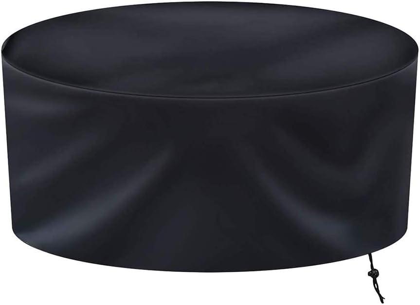 Cover Funda para Mesa Redonda De JardíN Impermeable 420D Tela Oxford Funda para Muebles Circular Exterior Protector para Conjunto Mesa Y Sillas De Jardin Resistente Al Desgarro(180x120cm)
