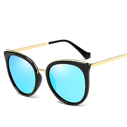 Gafas Irregular Gafas De Redondo De Vintage Gafas Trend Polarizado Solar Protección Mujeres Moda Sol Sol Conducción Gafas Polarizador De Medio De E De UV Pareja Marco Sol Protección Sol C Unisex Gafas ZEqnnxSX