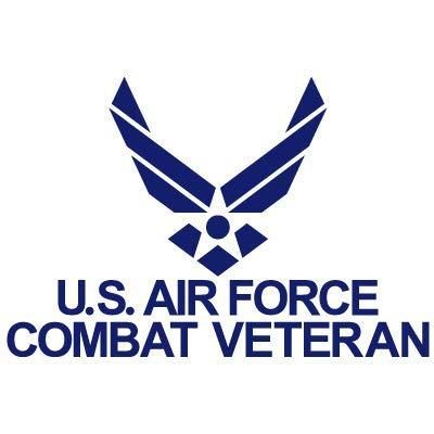 US Air Force Combat Veteran USAF United States Air Force Logo Car Window Bike Chopper Gas Tank Fender Vinyl Decal Sticker (AF-08) (6'' x 4'') ()